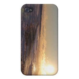 Un caso hivernal del iPhone 4 de la salida del sol iPhone 4 Carcasa