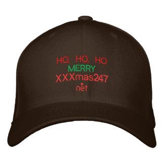 """Un casquillo con HO, HO, HO """"FELIZ XXXmas247.net""""  Gorra De Béisbol"""