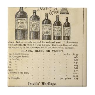 Un catálogo ilustrado de la mercancía de la azulejo cuadrado pequeño