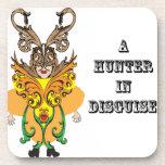 Un cazador en Disguise.ai Posavasos De Bebidas