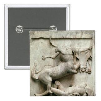 Un Centaur que triunfa sobre un Lapith Pin Cuadrado