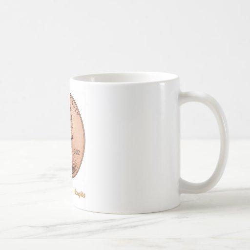 Un centavo por sus pensamientos taza básica blanca