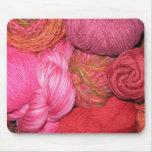 Un centro del hilado de Mano: Mousepad (rosas) Tapete De Raton