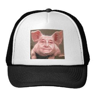 Un cerdo elegante gorras de camionero