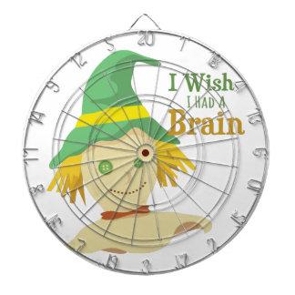 Un cerebro tablero dardos
