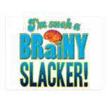 Un cerebro inteligente más flojo postal