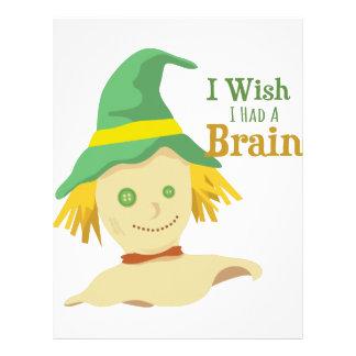 Un cerebro plantilla de membrete