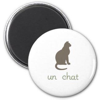 Un Chat 2 Inch Round Magnet