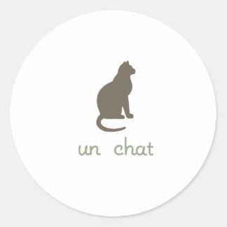 Un Chat Classic Round Sticker
