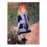 Un chica con una regadera de Pedro Renoir Postales