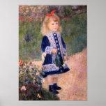Un chica con una regadera de Pedro Renoir Poster
