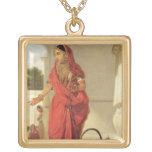 Un chica de baile indio con una cachimba, 1772 (ac colgante cuadrado