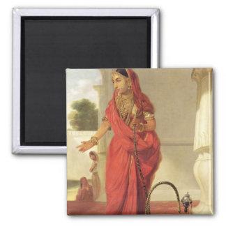 Un chica de baile indio con una cachimba, 1772 (ac imán cuadrado
