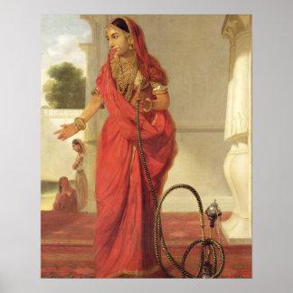 Un chica de baile indio con una cachimba, 1772 (ac impresiones
