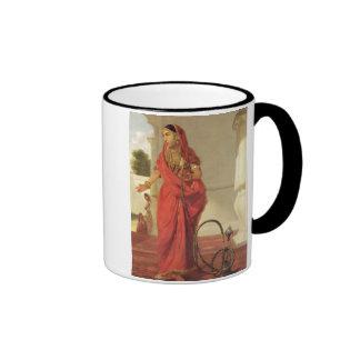 Un chica de baile indio con una cachimba, 1772 taza de dos colores