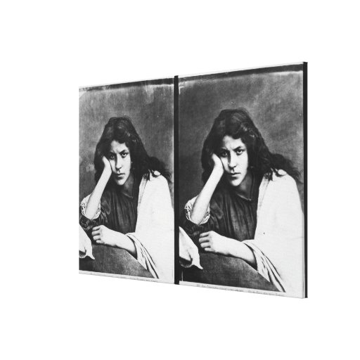 Un chica de Chioggia que soña con sus amores (phot Impresion De Lienzo