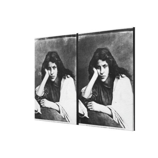 Un chica de Chioggia que soña con sus amores (phot Lona Envuelta Para Galerías