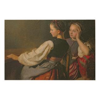 Un chica de Probsteier, 1844 Cuadros De Madera