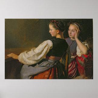 Un chica de Probsteier, 1844 Póster