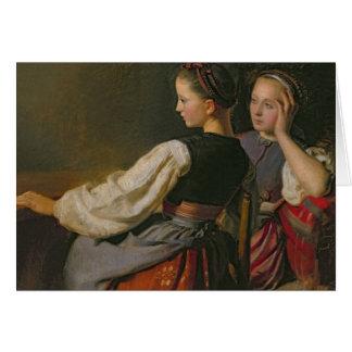 Un chica de Probsteier, 1844 Tarjeta De Felicitación