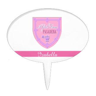 Un chica del emblema del logotipo de PASADENA Decoración Para Tarta