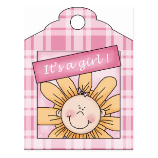 Un chica del girasol tarjetas postales