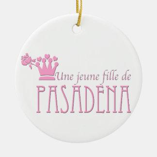Un chica del logotipo de la original de Pasadena Adorno De Reyes