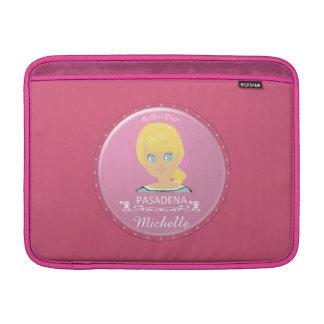 Un chica del logotipo de PASADENA Funda Macbook Air