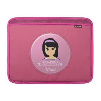 Un chica del logotipo de PASADENA Funda Para Macbook Air