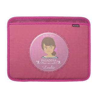 Un chica del logotipo de PASADENA Fundas Para Macbook Air