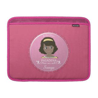 Un chica del logotipo de PASADENA Funda MacBook