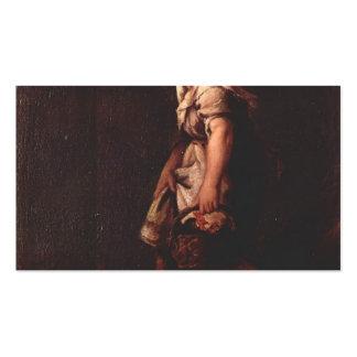 Un chica del pastor con una cesta de Pietro Longhi Plantillas De Tarjetas De Visita