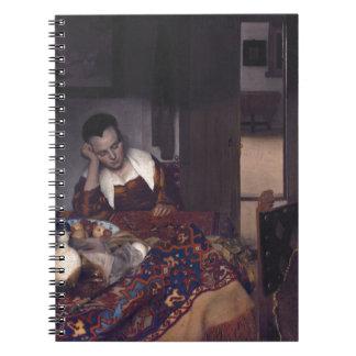 Un chica dormido por Juan Vermeer Libreta Espiral