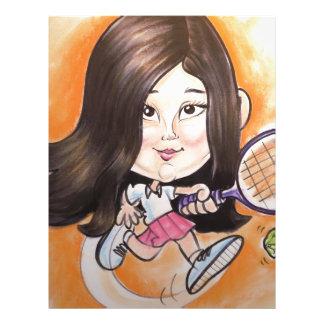 Un chica más mandón de la caricatura de la alameda membrete personalizado