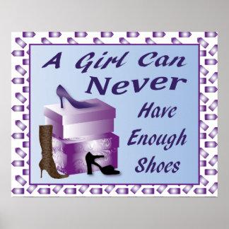Un chica puede nunca tener bastante poster de los  póster