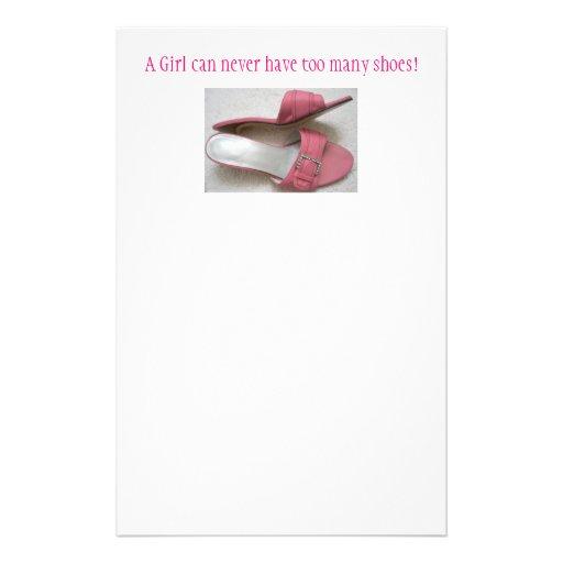 ¡Un chica puede nunca tener demasiados zapatos! Papelería