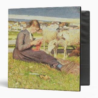 """Un chica que hace punto, 1888 (aceite en lona) carpeta 1 1/2"""""""