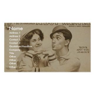 Un chica querido muchacho, el 'muchacho no es uste tarjetas de visita