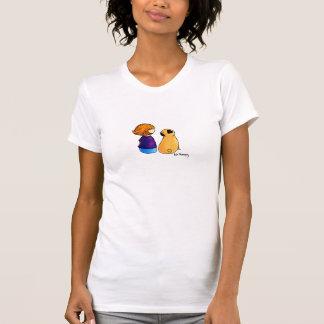 Un chica y su barro amasado rubios camisetas