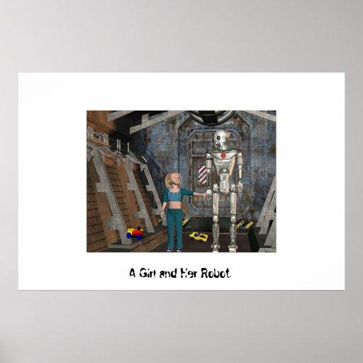 Un chica y su robot póster