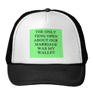 un chiste divertido del divorcio para los hombres gorras