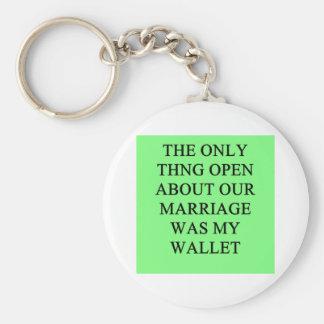 un chiste divertido del divorcio para los hombres llaveros personalizados