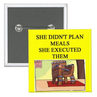 un chiste divertido del divorcio para los hombres pin cuadrada 5 cm