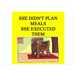 un chiste divertido del divorcio para los hombres tarjeta postal