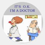 un chiste divertido del doctor etiquetas