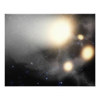 Un choque-para arriba de galaxias foto