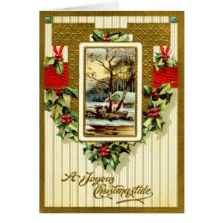 Un Christmastide feliz Tarjeta De Felicitación