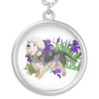 Un chulo en el iris colgante redondo