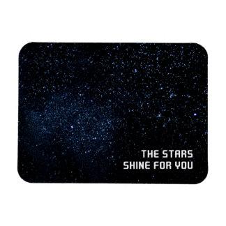 Un cielo por completo de estrellas imán foto rectangular