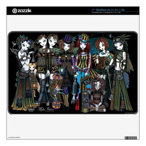 """Un circo de hadas 11"""" de Steampunk piel del aire d Skins Para 27,9cm MacBook Air"""